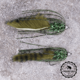 Dark Olive Bass Crawler Fly Pattern