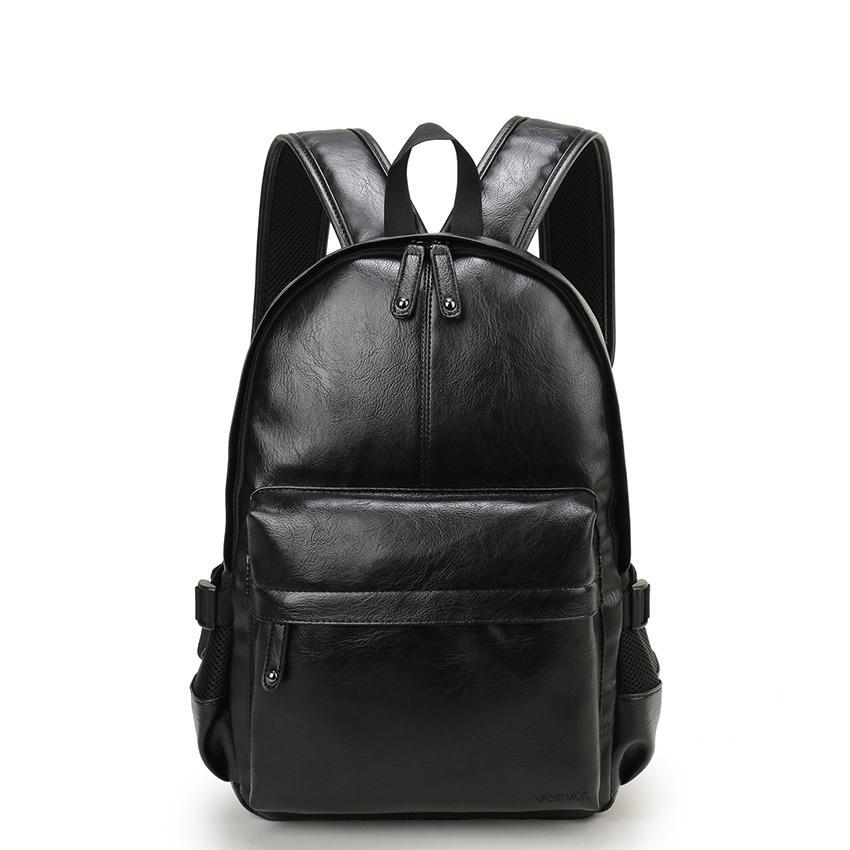 Black Luxury Leather Backpack