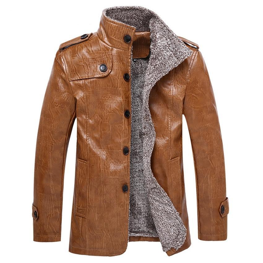Luxury Fur Lined Leather Jacket