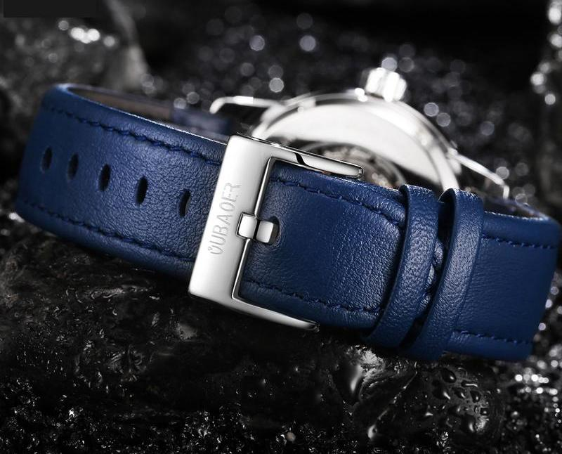 LIVENS Automatic Leather Watch