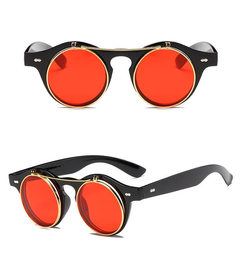 1912 Vintage Round Flip Up Sunglasses