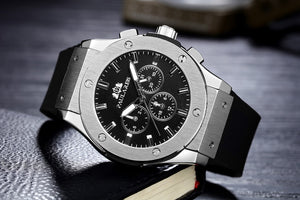 Mens Automatic Self Winding Luxury Sports Watch(Rubber Strap)