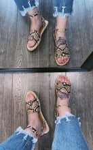 Load image into Gallery viewer, THALIA SNAKE SANDALS