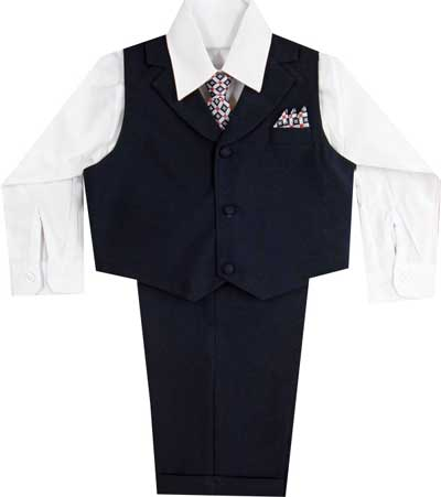 Boys Special Occasion Navy Blue Suit