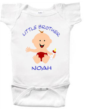 Little Brother Personalized Character Creeper or Tee-Shirt