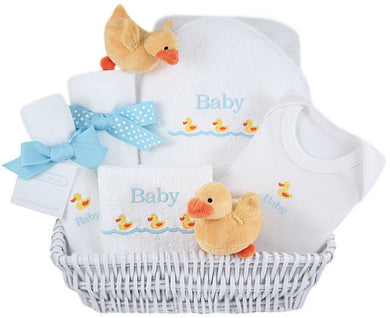 Personalized Luxury Just Ducky Layette Basket