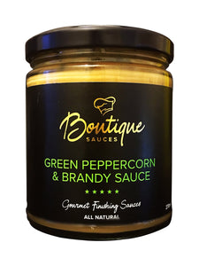 GREEN PEPPERCORN & BRANDY SAUCE - Boutique Sauces