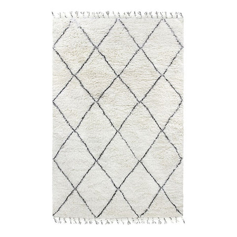 Handmade Diamonds Berber Rug