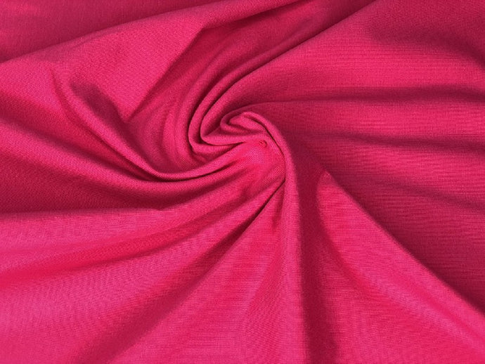 Jersey Plain Cerise Lovely Quality 200 gr/m2 95% Cotton 5% Spantex