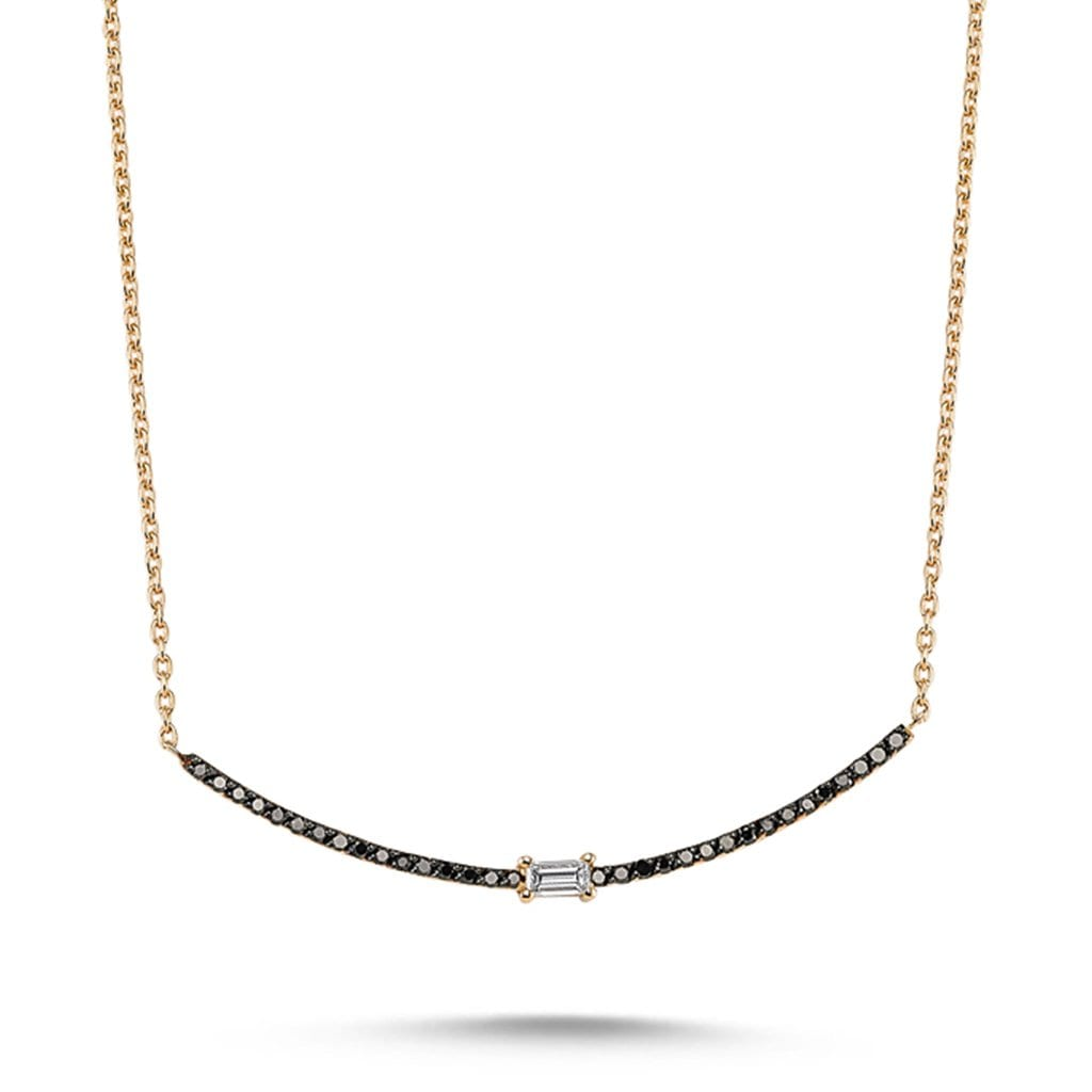 Vincents Fine Jewelry | Own Your Story | Black Diamond Arc Necklace