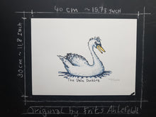 Load image into Gallery viewer, Original teenager ugly duckling illustration