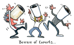 The Beware of Experts illustration Art Print