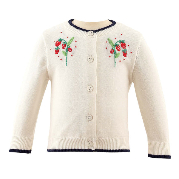 Strawberry Embroidered Cardigan