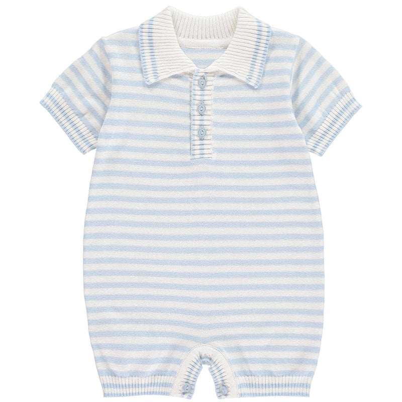 Striped Knitted Babysuit