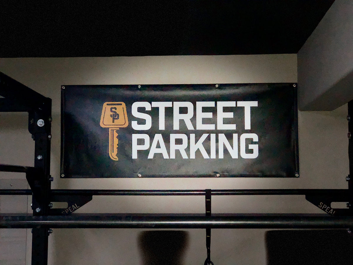 Street Parking Garage Gym Banner | 5'x2' - Street Parking