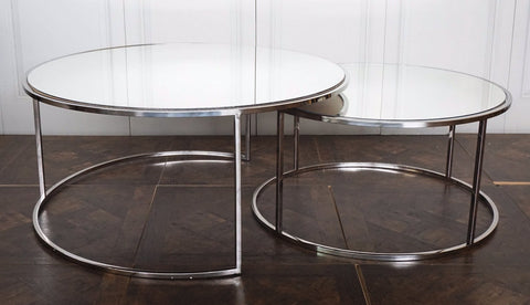 CHELSEA MIRRORED COFFEE TABLE - SET OF TWO
