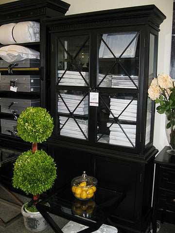 AVIGNON DISPLAY CABINET - IN STORE CLOSING DOWN CLEARANCE WAS $2495 Floor Stock in Black and White NOW $1600