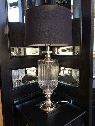 BOSTON FACET LAMP in CLEAR - CLOSING DOWN PRICE - WAS $349 !