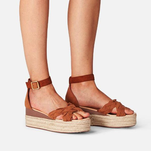 Women Fashion Espadrille Wedge Summer Sandals
