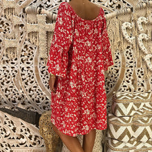 Bohemian Plus Size Printed Loose Dresses