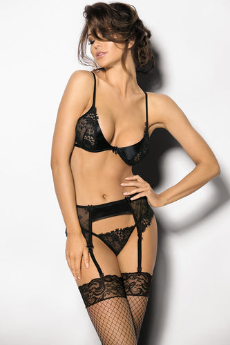 Embrace Embroidered Lingerie Set