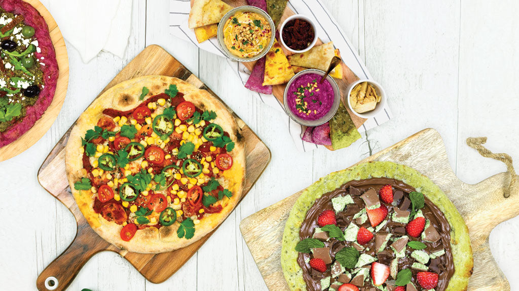 VEGETABLE COLOURFUL PIZZA BASES
