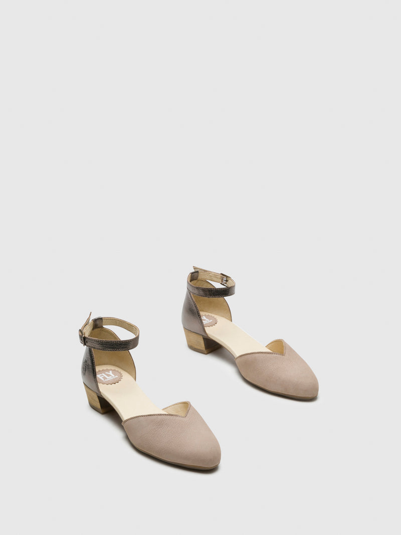 SandyBrown Ankle Strap Sandals