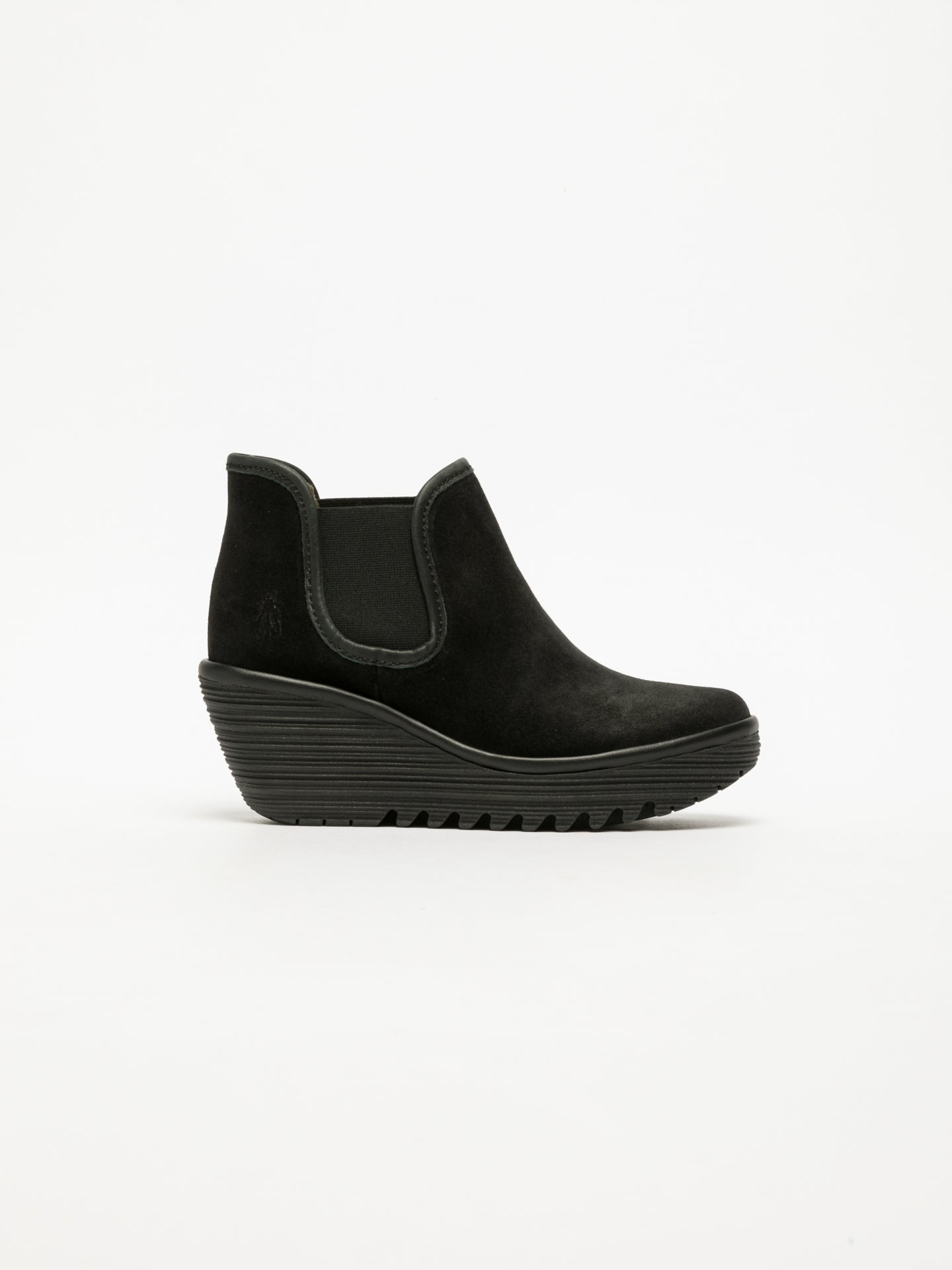 Fly London Black Wedge Ankle Boots