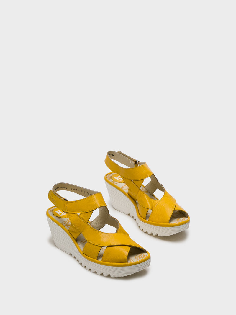 LightYellow Sling-Back Sandals