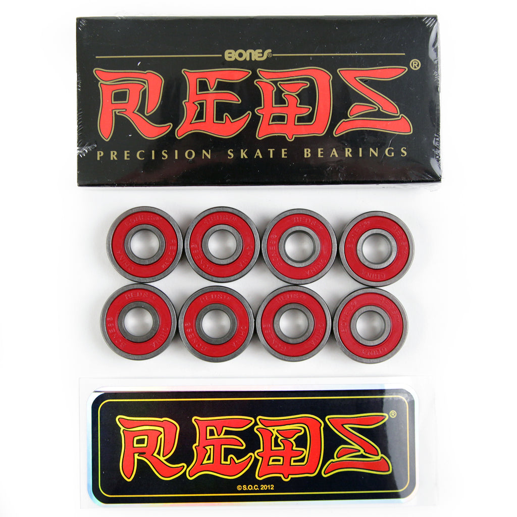 Bones Bearings - Bones Reds Skateboard Bearings