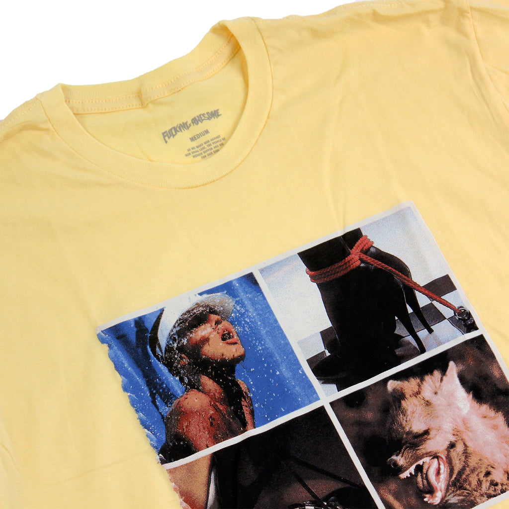 Fucking Awesome Squares T Shirt in Yellow - Details