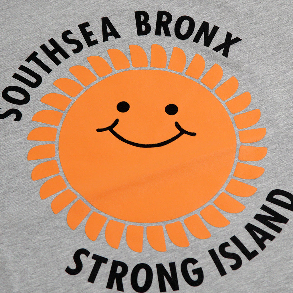 Southsea Bronx Strong Island T Shirt in Heather Grey - Print