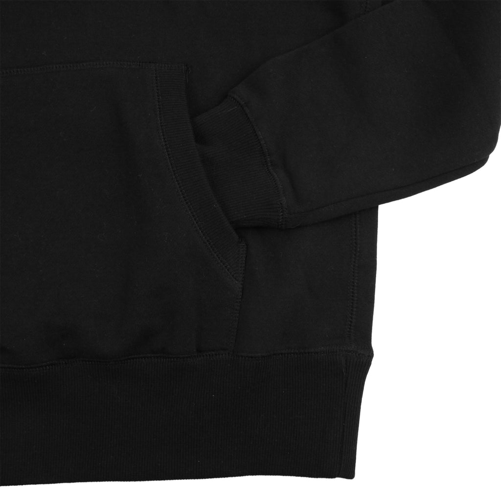 Southsea Bronx Strong Island Embroidered Hoodie in Black - Pocket
