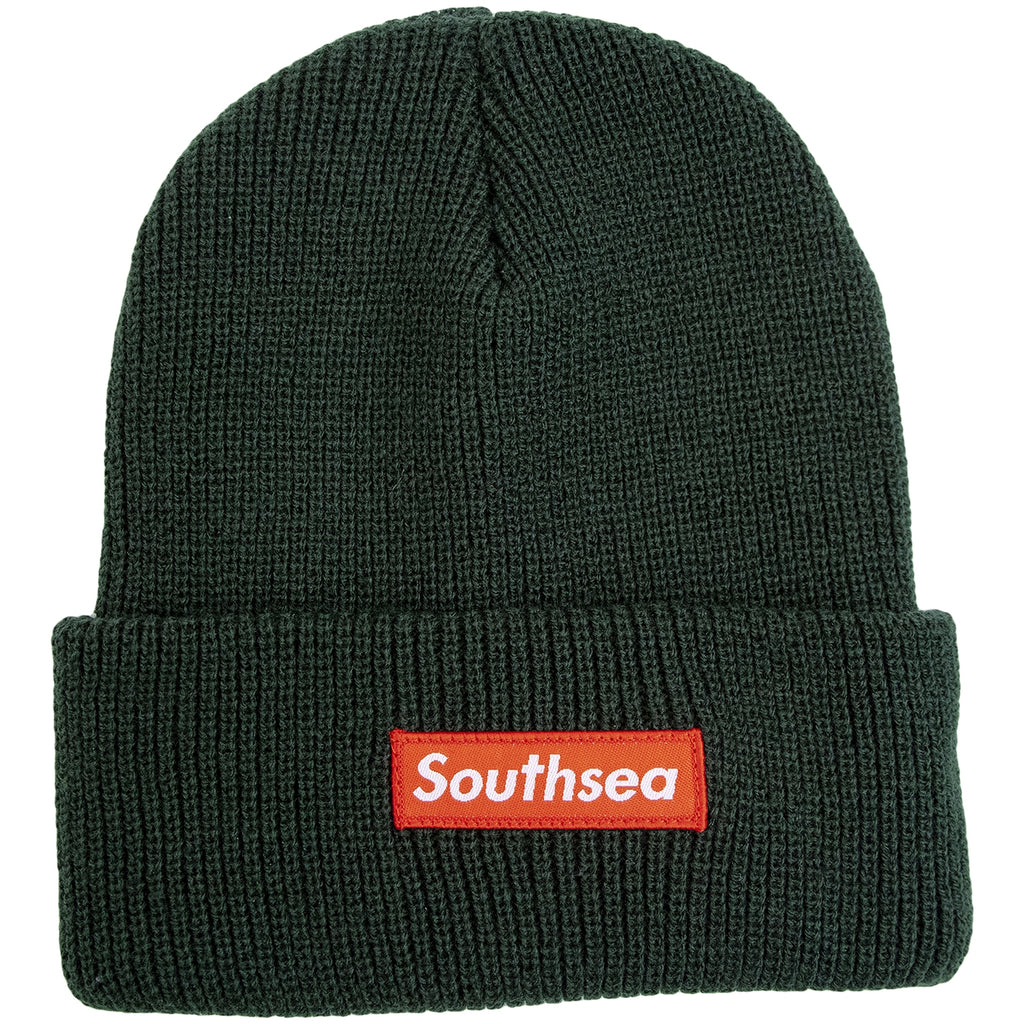 "Bored of Southsea ""Southsea"" Beanie in Bottle Green"
