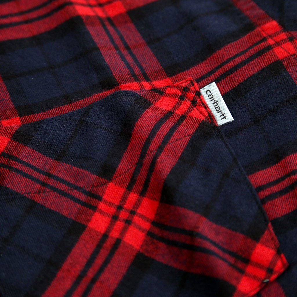 Carhartt L/S Norton Shirt in Navy / Alabama - Label
