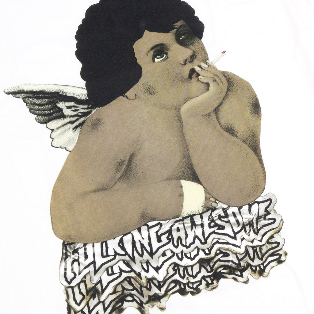 Fucking Awesome Angel T Shirt in White - Print