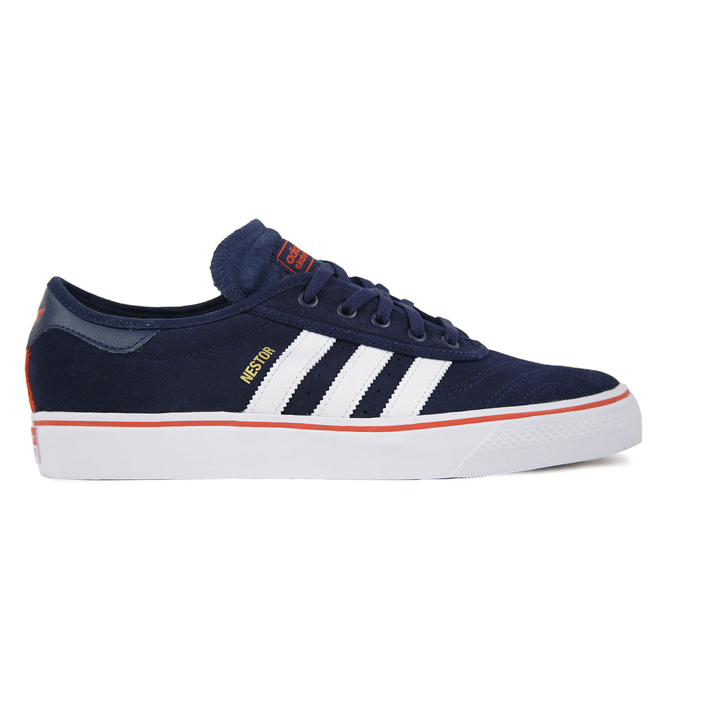 Adidas Skateboarding Adi Ease Premiere ADV Shoes in Collegiate Navy / White / Craft Chili