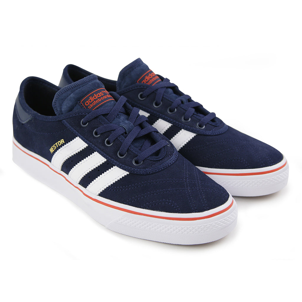 Adidas Skateboarding Adi Ease Premiere ADV Shoes in Collegiate Navy / White / Craft Chili - Pair