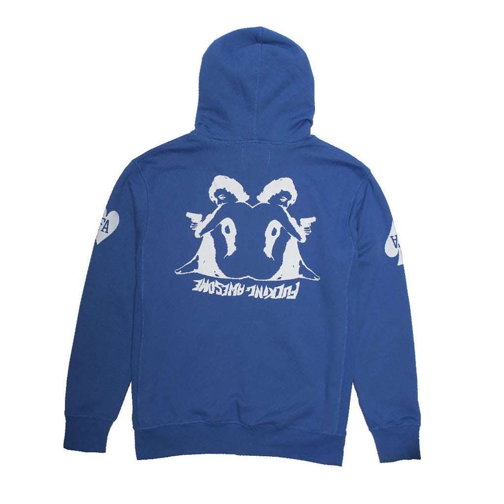 Fucking Awesome Hearts Hoodie in Royal