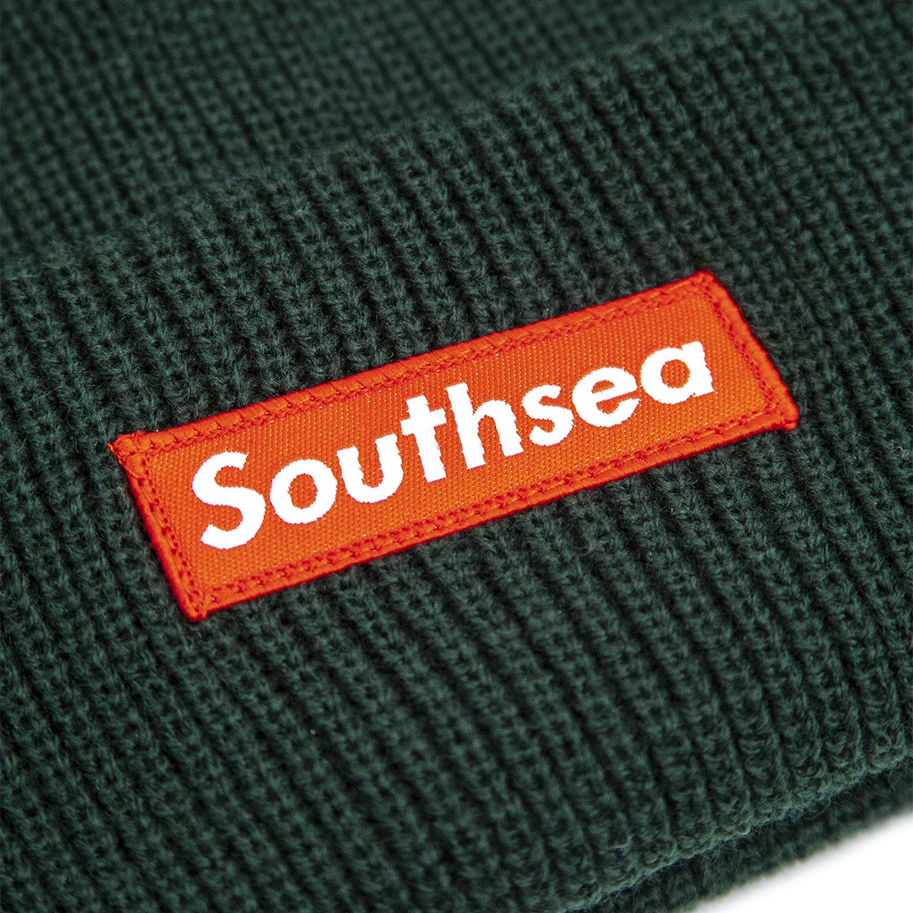 "Bored of Southsea ""Southsea"" Beanie in Bottle Green - Patch"