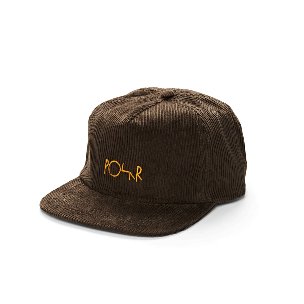 Polar Skate Co Cord 5-Panel Cap in Brown