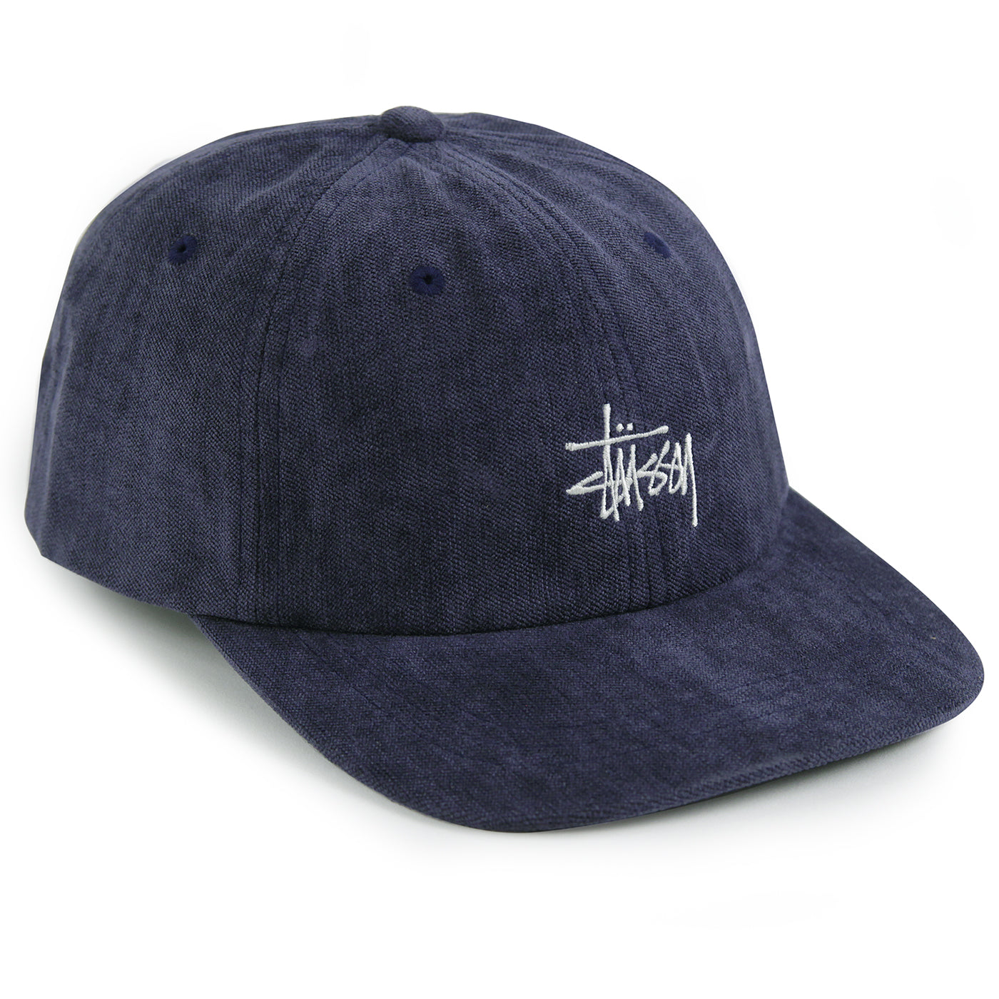 4d2fbb6b No Wale Cord Low Pro Cap in Navy by Stussy | Bored of Southsea