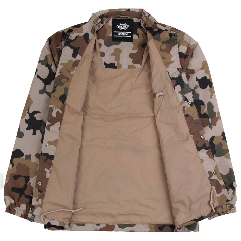 Dickies Torrance Jacket in Sand Camo - Open