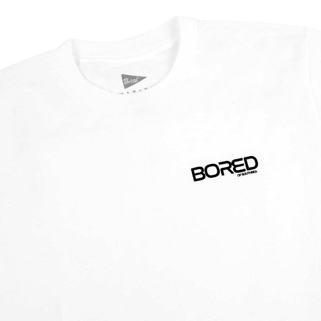 Bored of Southsea Spaceman T Shirt in White - Detail