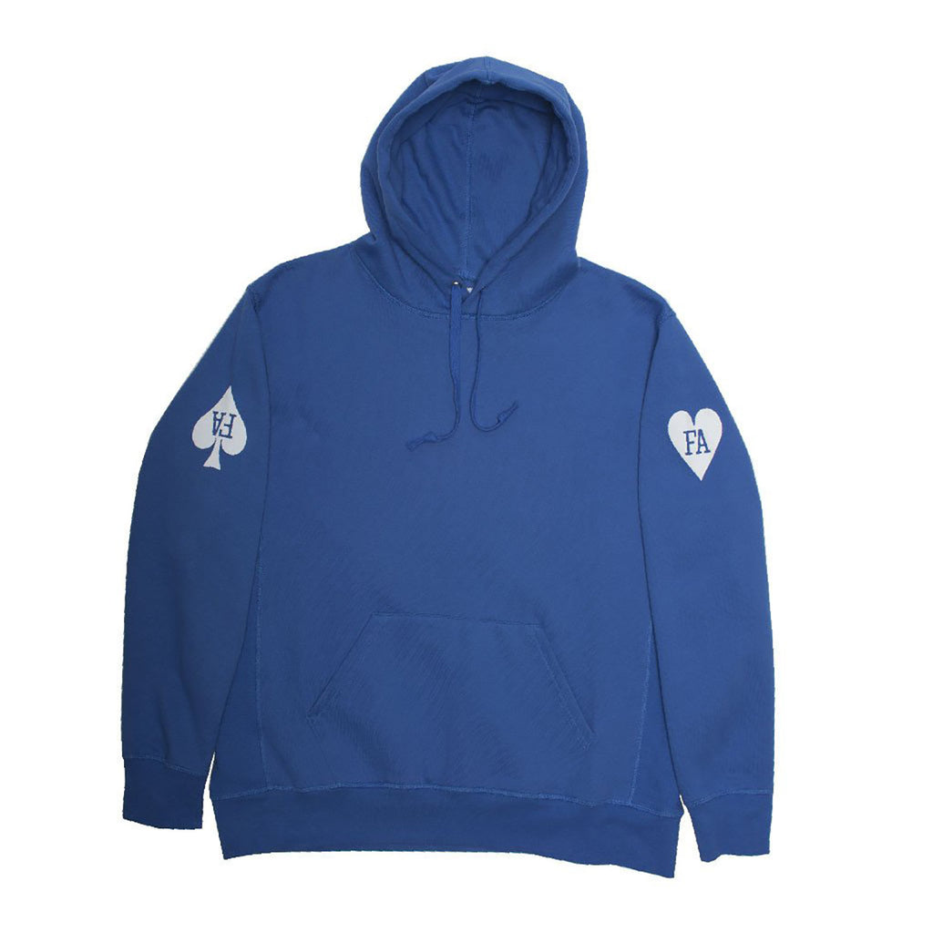 Fucking Awesome Hearts Hoodie in Royal - Front