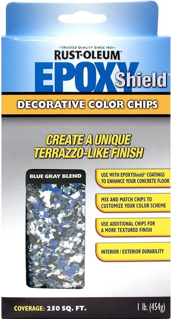 Rust-Oleum Epoxyshield Decorative Color Chips for Garage Floor Coating - Blue Gray
