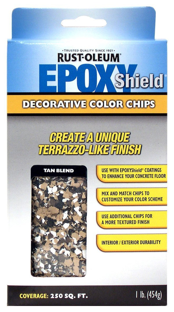 Rust-Oleum Epoxyshield Decorative Color Chips for Garage Floor Coating - Tan Blend