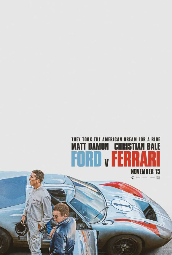 Ford v. Ferrari - US Teaser poster 2019 - the Battle for Le Mans
