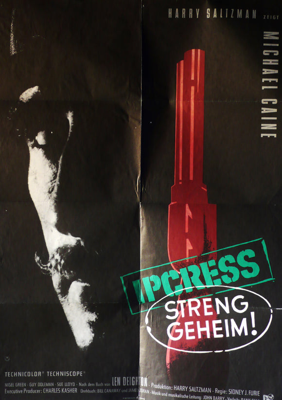 Ipcress File, Original German Movie Poster, 1965