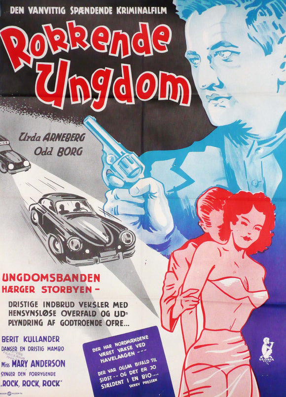 Original Movie Poster Rokkende Ungdom, Denmark, 1956